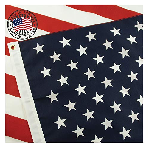 American Flag: 100% Made in USA Certified by Grace Alley. 3x5 Ft US Flag Strong, Long Lasting, and Durable with Brass Grommets. This 3x5 ft US Flag Meets US Flag Code.