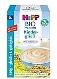 Hipp Bio-Milchbreie ohne Zuckerzusatz-Vorratspackung, ab 6. Monat, Kindergrieß, 4er Pack (4 x 450 g)