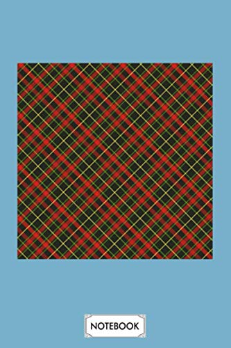 Red Tartan Plaid Notebook: Diary, Journal, 6x9 120 Pages, Matte Finish Cover, Lined College Ruled Paper, Planner