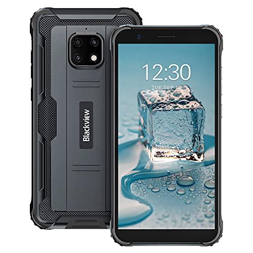 Blackview BV4900 Pro (2021) Outdoor Smartphone ohne Vertrag Günstige 5,7 Zoll HD+ Display 4GB/64GB, 128GB Erweiterbar 5580mAh 13MP+5MP Android 10 Dual SIM 4G Handy - NFC/Face ID/OTG/GPS/IP68 - Schwarz