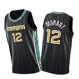 WWWJ Camiseta de baloncesto Jǎ Morǎnt, Mémphis Grizzliés 2020-21, color negro