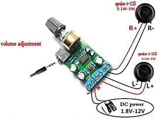 Fesjoy amplifier board for car speaker M/ódulo de amplificador de audio Setero 30W 30W Placa de amplificador de doble canal Amplifique la placa de circuito de bricolaje con disipador t/érmico para al