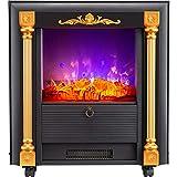 GFYL LED Flame Decoration Elektro-Kamin, Core Carved Decoration Cabinet, 2000W freistehende Elektro-Kaminheizung, für das Home Office, EIN tolles Geschenk für das Winterfest
