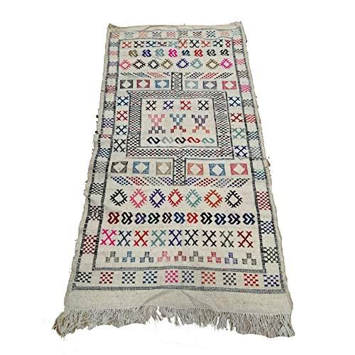 Etnico Arredo Alfombra Kilim Berbero Marruecos africanos original Lana TN 2207190902