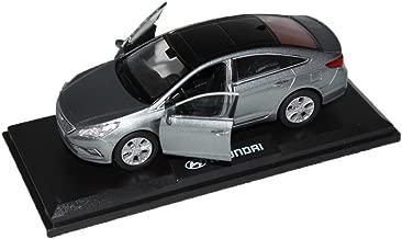 PINO [HYUNDAI Brand Collection] 1:38 Scale For Hyundai 2015+ Sonata LF Diecast Model MiniAture Car Toy - Polished Metal