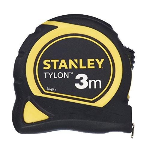 Stanley Bandmaß Tylon 3 m, Kunststoffgehäuse, extra starkes gebogenes Band, Tylon-Polymer-Schutzschicht, 0-30-687