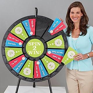 12-24 Slot Tabletop Prize Wheel (31 Inch Diameter)