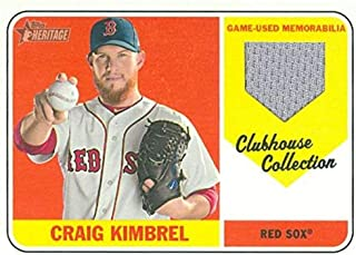 Craig Kimbrel player worn jersey patch baseball card (Boston Red Sox) 2018 Topps Heritage Clubhouse Collection #CCRCKI