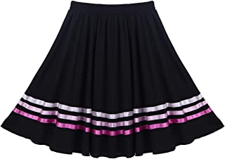 Kids Girls Full Character Circle Ribbons Decorated Skirt Ballet Lyrical Dance Dress Praisewear