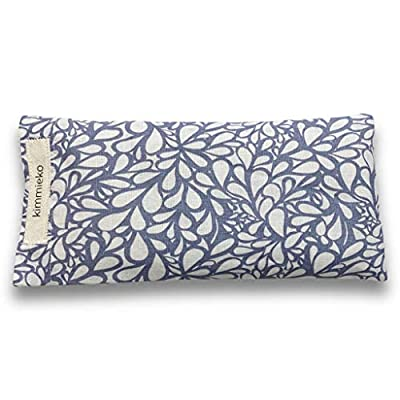 Kimmieko Weighted Eye Pillow for Eyes and Forehead | Washable Case with Organic Lavender and Flax Seed insert | Perfectly Weighted for Relaxation | Hand Made in the USA (Water Flow) by Kimmieko