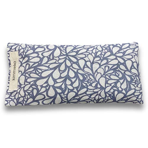 Kimmieko Weighted Eye Pillow for Eyes and Forehead | Washable Case with Organic Lavender and Flax Seed insert | Perfectly Weighted for Relaxation | Hand Made in the USA (Water Flow)