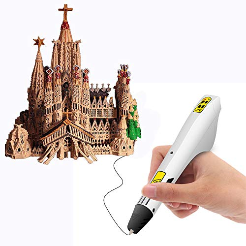 AMZ BCS 3D Drawing Printing Pen DIY Art Creation Printer 12 Colors Free Printed Material Compatible PLA ABS Stimulate Kids Teenagers Imagination 3D Starter Kit Gift