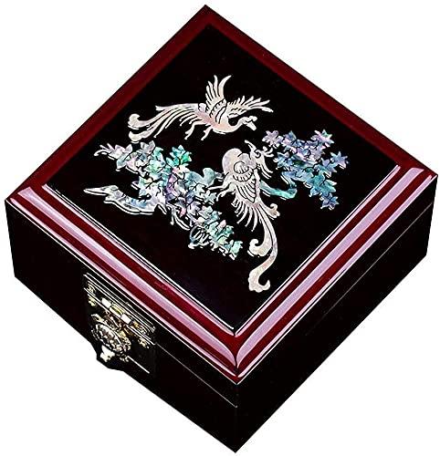 WXking Caja de Almacenamiento Chino, Caja de Vestir, Caja de Reloj de Perlas Highgrade Pintada Laca Día de la Madre, un Mejor Regalo para la Madre (c) (Color : B)