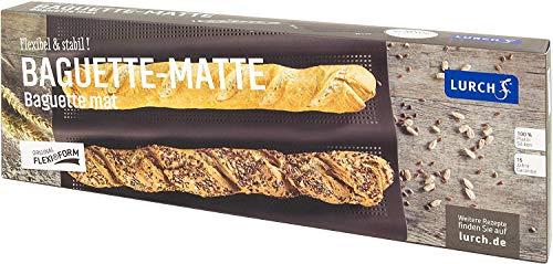 Lurch 85085 FlexiForm Baguette 3fach / Brotbackform für 3 Baguettes (36 cm) aus 100 % BPA-freiem Platin Silikon, braun