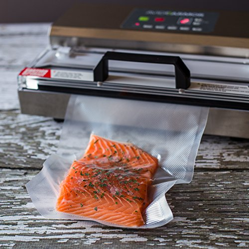 200 Pint Vacuum Sealer Bags size 6x10 Inch for Food Saver, Seal a Meal Vac Sealers, BPA Free, Heavy Duty Commercial Grade, Sous Vide Vacume Safe Universal Pre-Cut Storage Bag Avid Armor