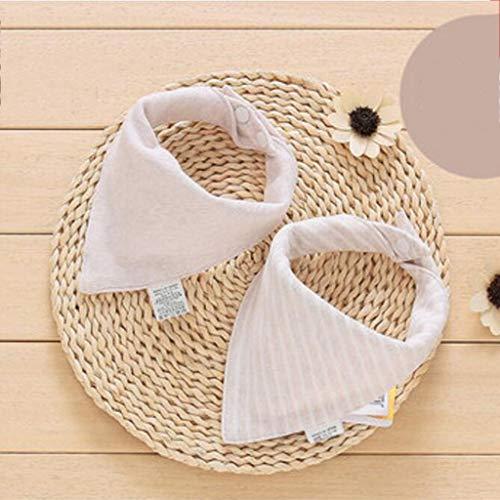 Sccarlettly Living Home Baby Triangle Serviette Casual Chic Bavoir Coton Salive Tissu Double Quatre Saisons 2Pcs Ensemble (Couleur Marron) (Color : Braun, Size : Size)