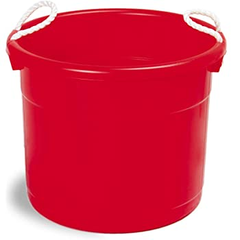 """Continental 8119RD, Huskee Red Hauler with Rope Handles, 19 gallon Capacity, 22"""" Diameter x 16-5/8"""" Height / 1 Each"""