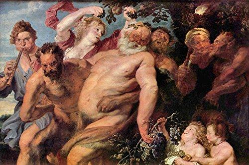 The Museum Outlet – Triomphe de Silène (Mythologie) par Van Dyck, Tendue sur toile Galerie enveloppé. 50,8 x 71,1 cm