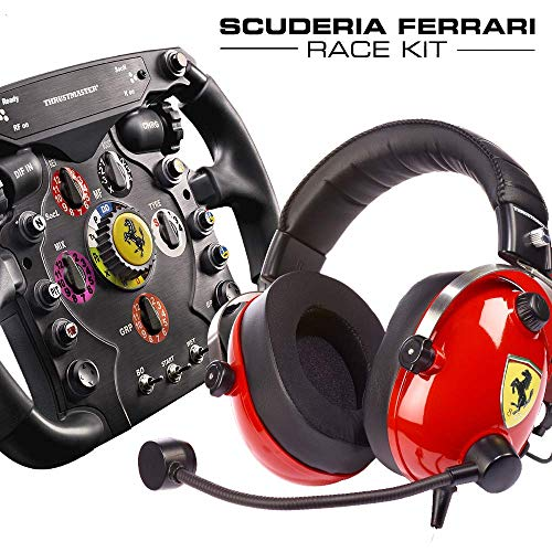 Thrustmaster Scuderia Ferrari Race Kit - Volante F1 + Cuffie Gaming Scuderia Ferrari F1 - PS4 / Xbox One / PC - [Esclusiva Amazon.it]