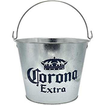 NJ Beer Bucket, Galvanized Beer Bucket Built-in Bottle Opener, Party Bucket, Ice Bucket, Wine Bucket, Bar Bucket: 1 Pc.
