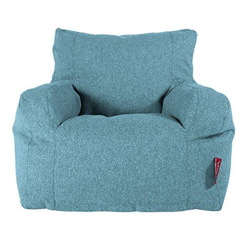 Lounge Pug, Sitzsack Ohrensessel, Interalli Wolle Aqua