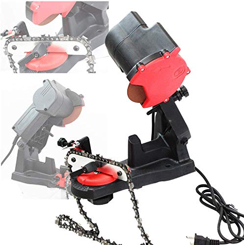JIAN 85W Electric Power Chainsaw Sharpener Wall, Bench or Vise Mount Grinder for Sharpening Oregon Husqvarna Stihl Echo Saw Chain w/Chain Saw Grinding Wheel