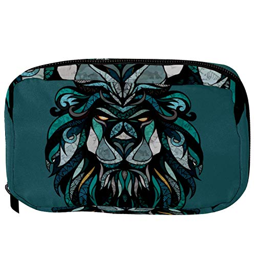 Makeup Bags Portable Travel Cosmetic Bag Organizer Multifunction Case Animal Lion Head with Zipper Toiletry Bags for Women