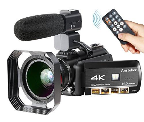 Ansteker 13MP 30FPS 4K Ultra-HD-Videokamera