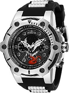 Invicta 29056 Marvel Reloj cronógrafo de cuarzo con esfera negra para hombre