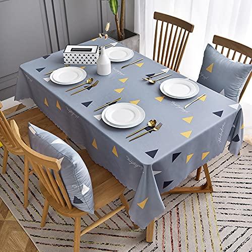 LIUJIU Mantel de PVC grueso y resistente, fácil de limpiar y limpiar, apto para uso en interiores e interiores, mantel de fiesta familiar, 120 x 180 cm