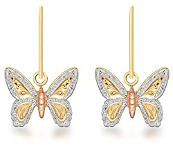 Elegantly crafted from high quality 9 ct three colour gold for a warm and classic tone A combination of rose, white and yellow gold provides contrast The Carissima gold collection is inspired from the romance of Italy The pieces reflect Italian tradi...