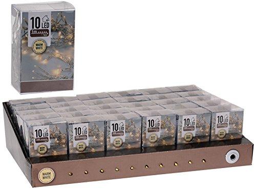 Mini-Lichterkette warmweiß mit 10 LEDs für Innen, batteriebetrieben