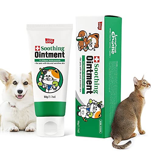 Laughing Charlie Soothing Ointment Moisturizer Leave in Dog Conditioner for Dry Skin & Coat Treatment Dog Pet Balm Lotion Cream for Paws and Nose