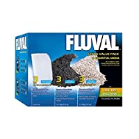 Pack contains Fluval Amonia Remover 3 x 180g Fluval Carbon 3 x 100g 3 x Fluval fine polishing pads