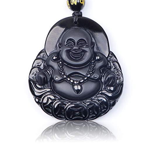 Buda Riendo - Amuleto para la riqueza - Obsidiana