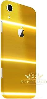 SopiGuard Skin for Apple iPhone XR Precision Edge-to-Edge Vinyl Sticker (Chrome Gold)