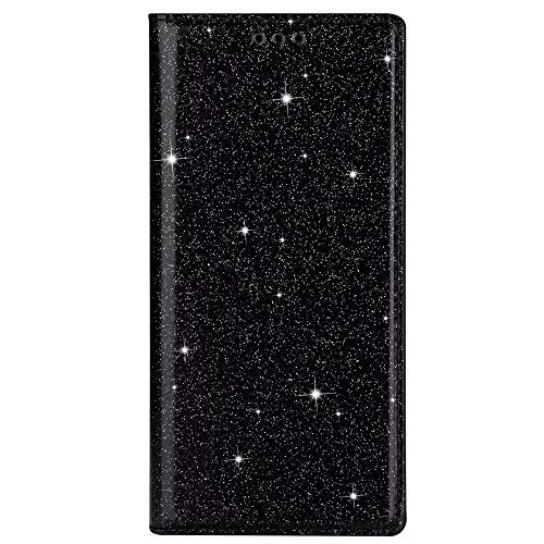 Nadoli Glitter Flip Case for Galaxy M51,Girls Women Shiny Bling Sparkle Ultra Thin Pu Leather Magnetic Bookstyle Kickstand Wallet Cover Case for Samsung Galaxy M51