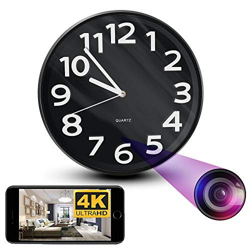 NinjaPro 2-in-1 Spy Camera Wall Clock with 1080P HD Video Capturing, Motion Detection and Live Wireless App Access, Smart Hidden Home Surveillance, Nanny Cam, Hidden Camera Clock