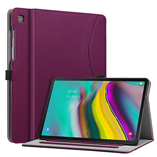 Fintie Case for Samsung Galaxy Tab S5e 10.5 2019 Model SM-T720(Wi-Fi) SM-T725(LTE) SM-T727(Verizon/Sprint), Multi-Angle Viewing Stand Cover with Pocket Auto Sleep Wake Feature, Purple