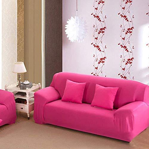 Omabeta Sofá Protector Rosa 7 Colores Sólidos Funda de Sofá para Sala de estar (Rosa Rojo)