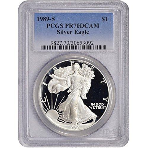 1989 S American Silver Eagle $1 PR-70 PCGS
