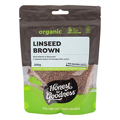 Honest to Goodness Organic Linseed (Flaxseed) Brown, 200 Grams