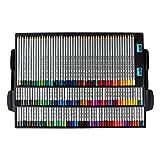 Set de 150 lápices de colores profesionales de colores al óleo, juego de lápices de pintura de artista, bosquejo, madera, lápiz de color escolar, suministros de arte para niños y artistas juniores