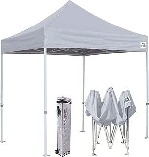 Eurmax 8x8 Feet Ez Pop up Canopy, Outdoor Canopies Instant Party Tent, Commercial Gazebo Bonus Roller Bag (Grey)