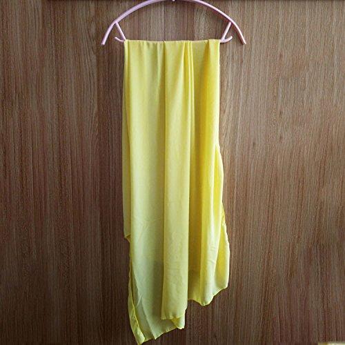 LLZBJN Bikini/Baño/Playa/Bikini Triangular Bikini para Mujer/Tres Piezas/Bañador Rosa con Mantrel, S, (Manto) Amarillo