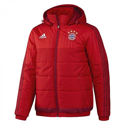 adidas Herren Winterjacke FC Bayern Padded Jacket, FCB True Red/Craft Red F12, XS