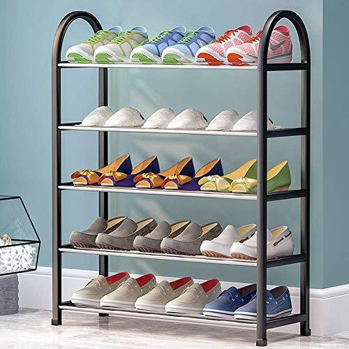 Muebles para el hogar Zapatero pequeño Zapatero Zapatero negro Zapatero pequeño de 5 niveles Organizador de almacenamiento de zapatos multicapa Zapatero estrecho para zapatos y suministros diarios
