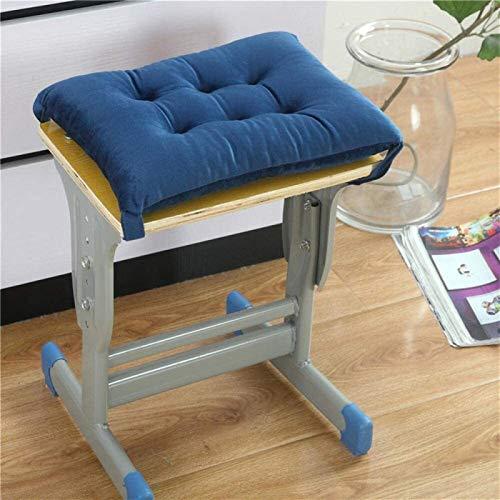 Cojín de silla Cojines para sillas Cojines de asiento Memoria de algodón Cojines Cojines Calientes Bench Estudio Taburete Taburete Transpirable Memoria de algodón Púrpura 35 * 38 para cocina Comedor J