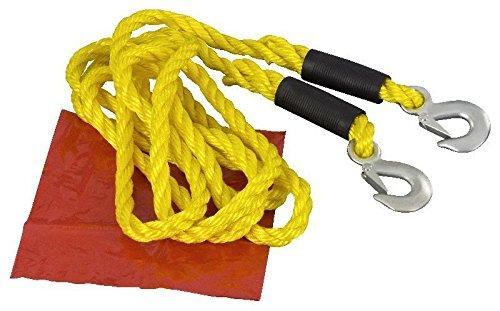 Dunlop Abschleppseil mit 2 Haken bis 5000kg 3 Tonnen 4m 18mm Pannenseil