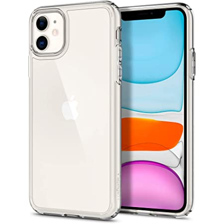 Spigen Ultra Hybrid [Anti-Yellowing PC Back] Designed for iPhone 11 Case (2019) - Crystal Clear
